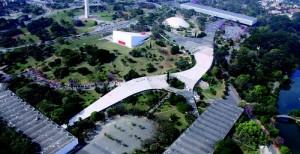 O Parque  do Ibirapuera tem dez portões de acesso