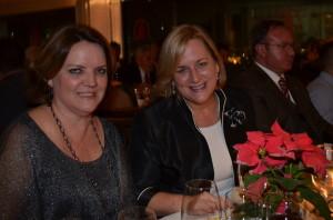 Anete Tauber, da  Lufthansa (à direita) durante jantar de premiação