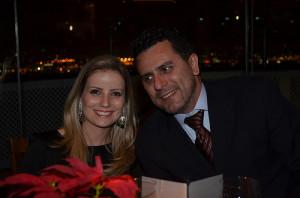 Gilmar Piolla, de Itaipu Binacional e esposa durante o pêmio
