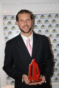 Ricardo Souza, da American Express durante a premiação