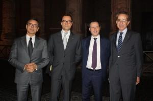 Da esquerda: Roberto Novelli; Tommaso Tanzili; Marco Annarumi; e Francesco Paternó