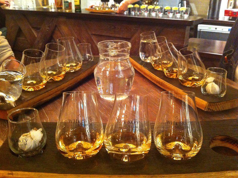 medium-Whiskey glasses on tasting tray
