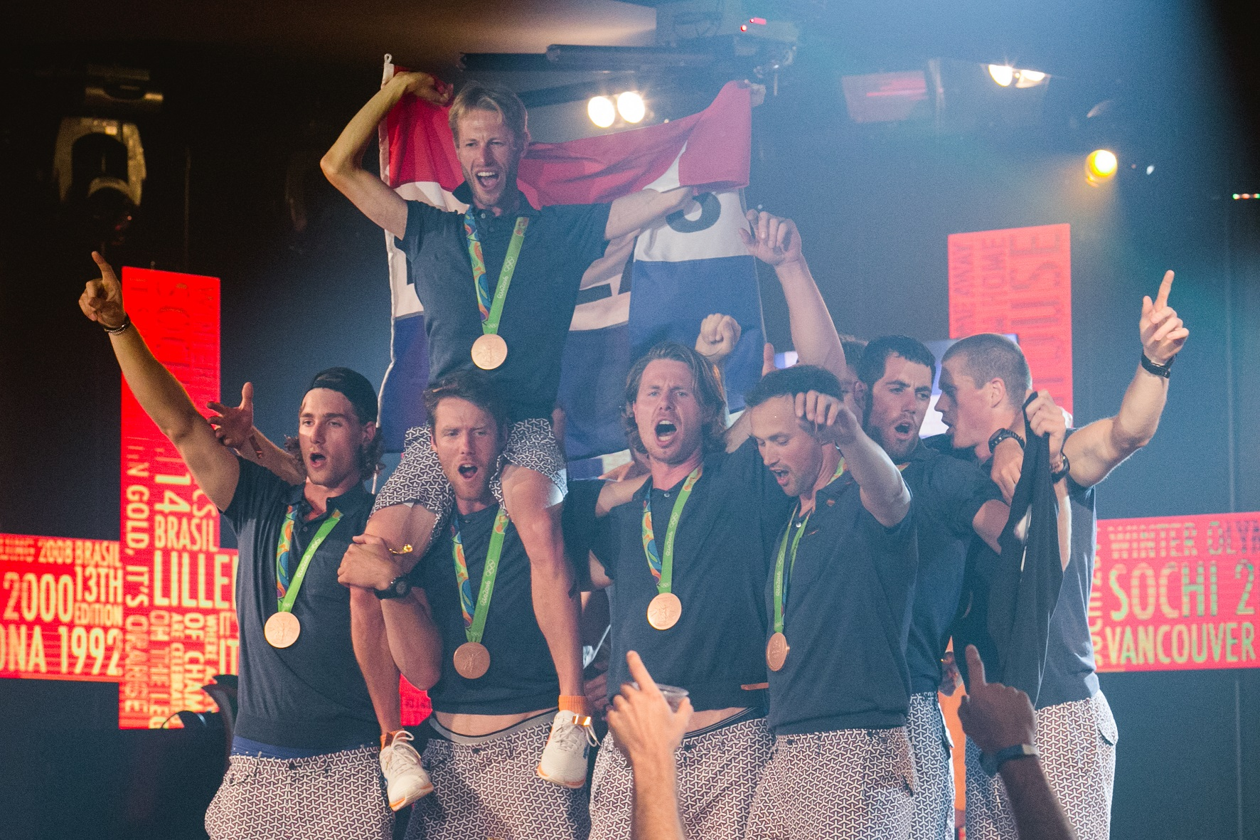 Na casa da Holanda os atletas são ovacionados