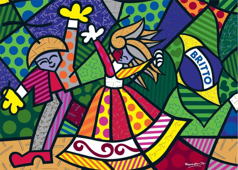 Bau Da Web Desenhos De Romero Britto Para Colorir